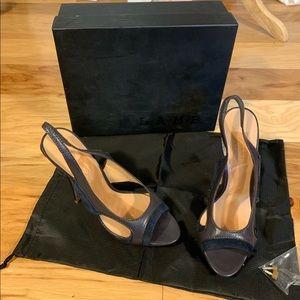 L.A.M.B. Qamar suede sling back heels. 8.5
